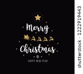 merry christmas greeting text... | Shutterstock .eps vector #1222919443