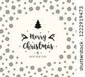 merry christmas greeting text... | Shutterstock .eps vector #1222919473