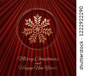 this is a red gold background... | Shutterstock .eps vector #1222922290