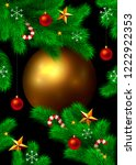 new year and christmas... | Shutterstock . vector #1222922353