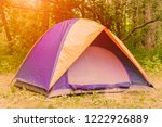 tourist tent on the background... | Shutterstock . vector #1222926889
