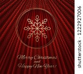 this is a red gold background... | Shutterstock .eps vector #1222927006