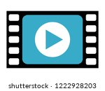 play video vector icon | Shutterstock .eps vector #1222928203