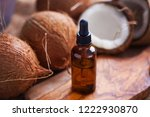coconut oil with coconuts  ...   Shutterstock . vector #1222930870