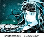 abstract illustration of blue... | Shutterstock . vector #122293324