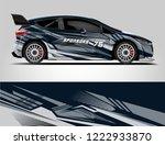 rally car wrap. abstract strip...   Shutterstock .eps vector #1222933870