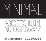 minimal font symbol icon... | Shutterstock .eps vector #122293396