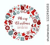 concept of christmas greeting... | Shutterstock .eps vector #1222934353