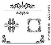calligraphic elements set | Shutterstock .eps vector #122293498