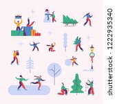 vector winter season set...   Shutterstock .eps vector #1222935340