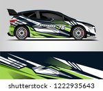 rally livery design. racing car ... | Shutterstock .eps vector #1222935643