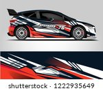 rally livery design. racing car ...   Shutterstock .eps vector #1222935649
