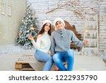 happy young couple  having fun... | Shutterstock . vector #1222935790