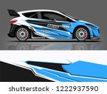 rally car wrap livery design.... | Shutterstock .eps vector #1222937590