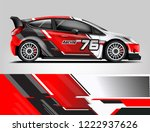 rally car wrap livery design.... | Shutterstock .eps vector #1222937626