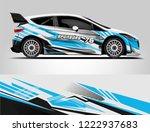 rally car wrap livery design....   Shutterstock .eps vector #1222937683