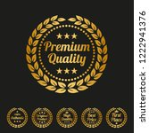 premium quality laurel wreath... | Shutterstock .eps vector #1222941376