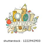 sketch illustration with... | Shutterstock .eps vector #1222942903
