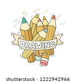 sketch illustration with... | Shutterstock .eps vector #1222942966