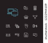 technology icons set. 3d...