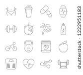 simple set sport  fitness  gym...   Shutterstock .eps vector #1222951183
