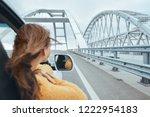 rear view of pre teen girl in... | Shutterstock . vector #1222954183