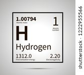 hydrogen chemical element with... | Shutterstock .eps vector #1222955566