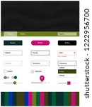 dark pink  green vector style...