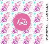 christmas hand drawn pattern...   Shutterstock .eps vector #1222958326
