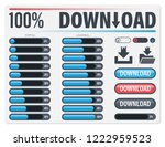 loading bar progress percent.... | Shutterstock .eps vector #1222959523