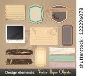 vector vintage labels. grunge... | Shutterstock .eps vector #122296078