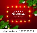 christmas background with... | Shutterstock .eps vector #1222975819