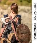 a beautiful female shield...   Shutterstock . vector #1222978300