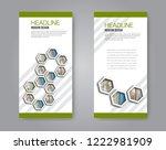 narrow flyer and leaflet design.... | Shutterstock .eps vector #1222981909