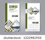 narrow flyer and leaflet design.... | Shutterstock .eps vector #1222981933