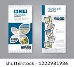 narrow flyer and leaflet design.... | Shutterstock .eps vector #1222981936