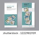 narrow flyer and leaflet design.... | Shutterstock .eps vector #1222981939