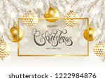 merry christmas and happy new... | Shutterstock .eps vector #1222984876