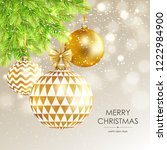merry christmas and happy new... | Shutterstock .eps vector #1222984900