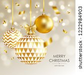 merry christmas and happy new... | Shutterstock .eps vector #1222984903