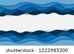 Blue Water Waves Layered Art...