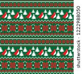 knitted christmas and new year...   Shutterstock .eps vector #1222988050