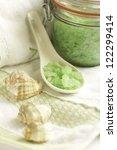 bath accessories  sea salt and... | Shutterstock . vector #122299414
