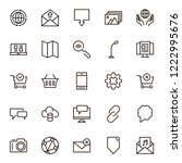 internet icon set. collection... | Shutterstock .eps vector #1222995676