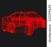 wireframe car | Shutterstock .eps vector #122299639