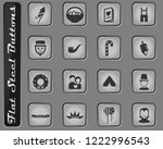 holidays vector web icons on... | Shutterstock .eps vector #1222996543