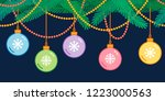 christmas and new year... | Shutterstock .eps vector #1223000563