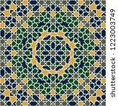 seamless arabic pattern. vector ...   Shutterstock .eps vector #1223003749