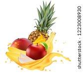 ads 3d promotion banner ... | Shutterstock . vector #1223008930