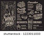 brunch menu template for... | Shutterstock .eps vector #1223011033